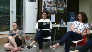 Polina Filippova, Louisa Slavkova & Mandy Schulze